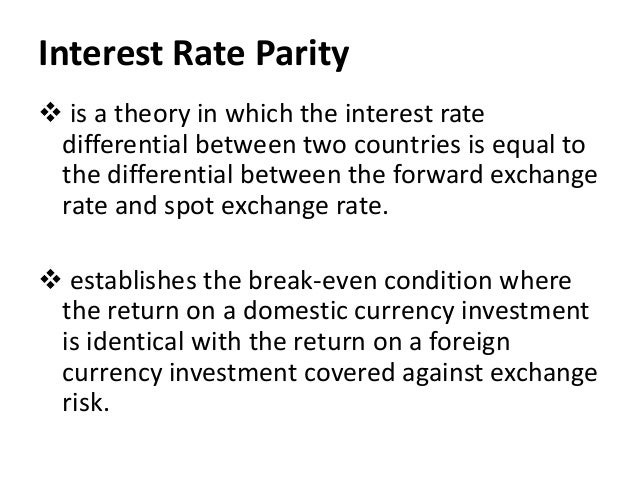 the forward parity condition Base currency when expressed in plain english, an exchange rate is conveyed  using a sentence one usd can be converted to 13579 sgd.