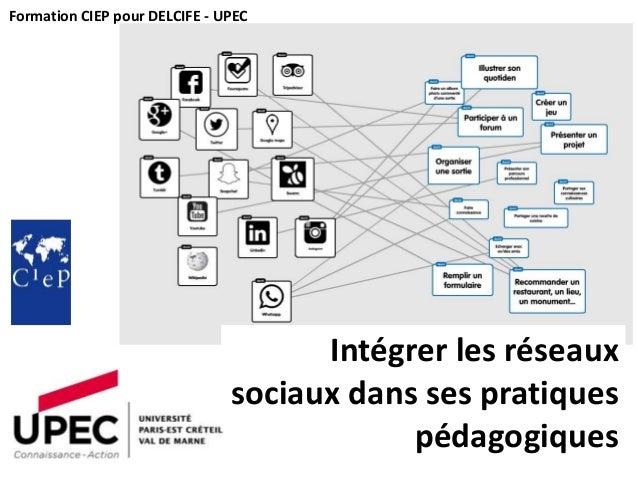 Intégrer les réseaux sociaux dans ses pratiques pédagogiques Formation CIEP pour DELCIFE - UPEC