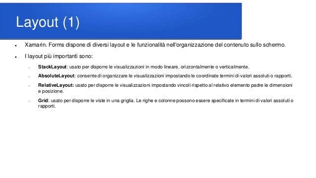 Interfaccia di Xamarin Slide 2