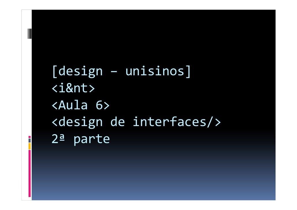 Novas Tecnologias e Inovação - aula 7 - interfaces, webdesign (parte 2)