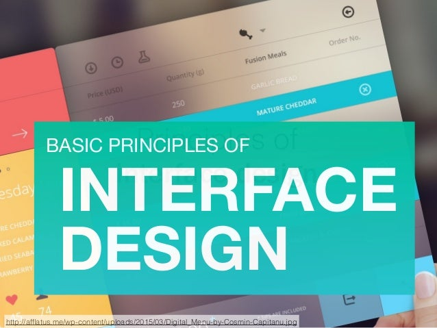 Basic Principles Of Interface Design