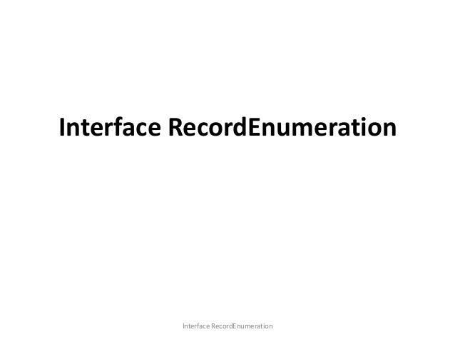 Interface RecordEnumeration  Interface RecordEnumeration