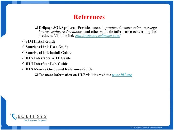 Interfaces Demo Eclipsys Baroda India Part Two