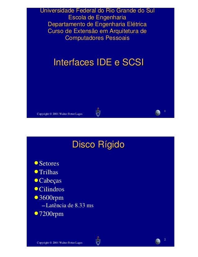 Copyright © 2001 Walter Fetter Lages  1  Universidade Federal do Rio Grande do Sul  Escola de Engenharia  Departamento de ...