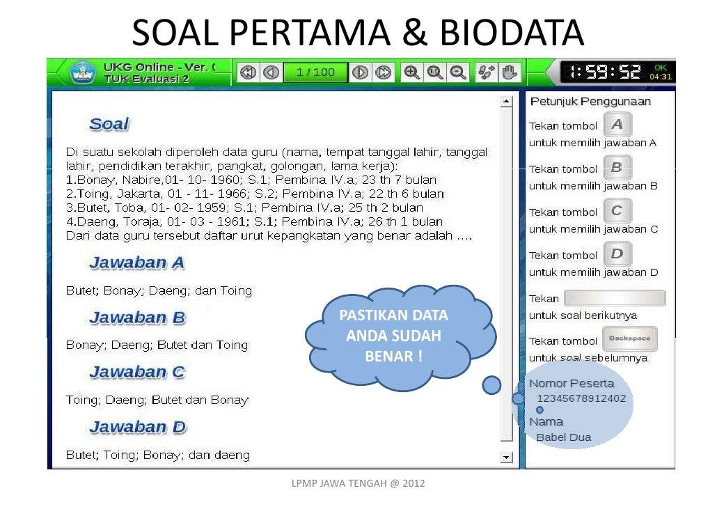 Soal Ukg Jawa Tengah Cara Mudah Cek Lokasi Ukg 2015 Jawa Tengah Info Kepegawaian Interface Ukg