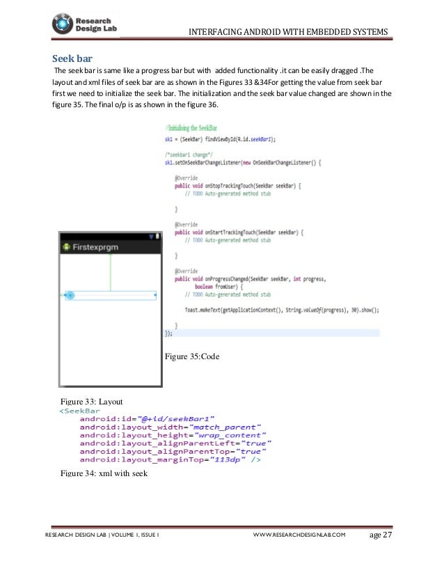 Interfacing android with embedded systems