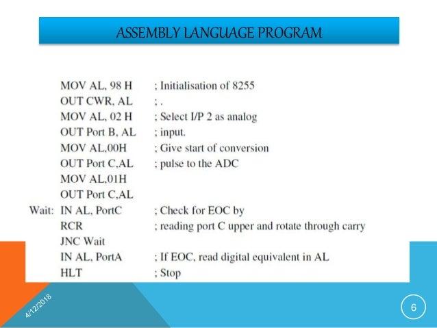 Interfacing Of Adc 0808