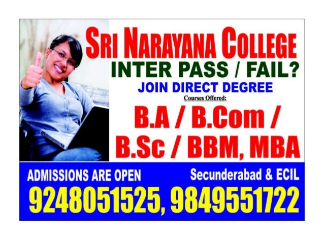 Inter Fail Join Degree Direct in Hyderabad - 9246451525