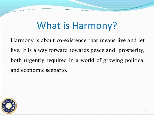 an essay on peace and harmony