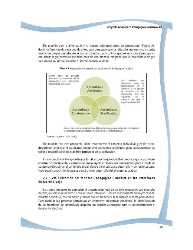 59 Proyecto Académico Pedagógico Solidario 3.0 De acuerdo con lo anterior, el MPU estudiante logre construir conocimiento ...