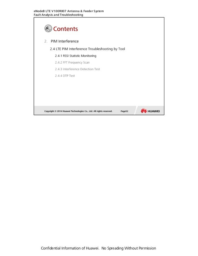 LTE Interference troubleshooting guide