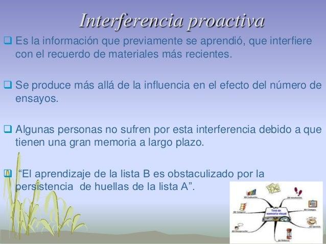 Interferencia Proactiva Y Retroactiva