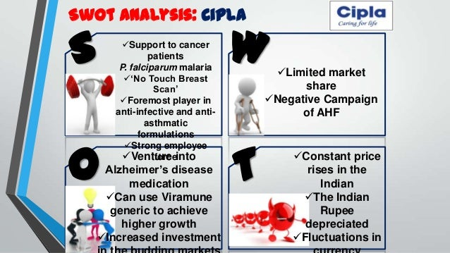 swot analysis of cipla Cipla limited competitor's analysis pestle analysis porter's  five forces cipla's swot products bcg matrix startegies.