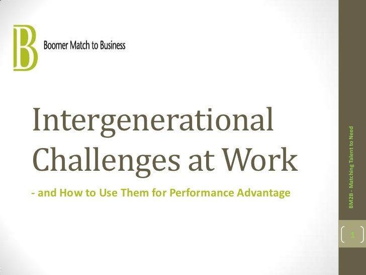 Intergenerational                                                  BM2B - Matching Talent to NeedChallenges at Work- and H...