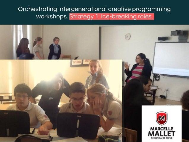 @margaridaromero Orchestrating intergenerational creative programming workshops. Strategy 1: Ice-breaking roles.