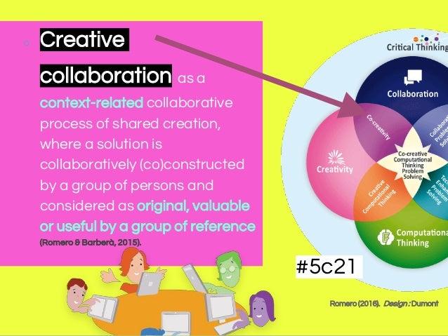 Romero (2016). Design : Dumont #5c21 ○ Creative collaboration as a context-related collaborative process of shared creatio...