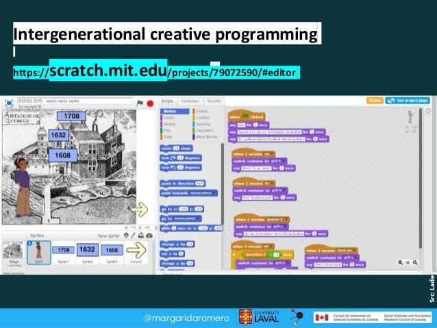 @margaridaromero Src:Ladieslearningcode.com Intergenerational creative programming https://scratch.mit.edu/projects/790725...