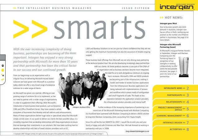 Intergen Smarts 15 (2007)