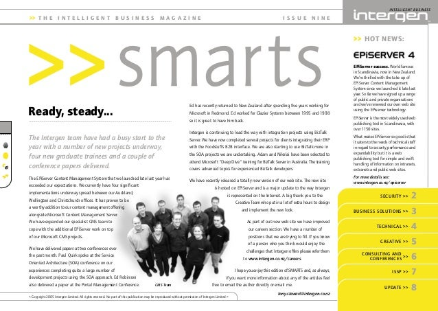INT Smarts 9_2 6/4/05 9:44 AM Page 2 Ed has recently returned to New Zealand after spending five years working for Microso...