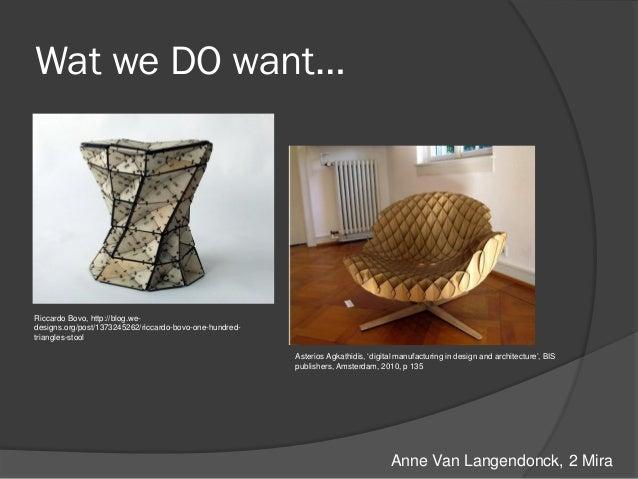 Interieur Concept Anne Van Langendonck - One-hundred-triangles-stool