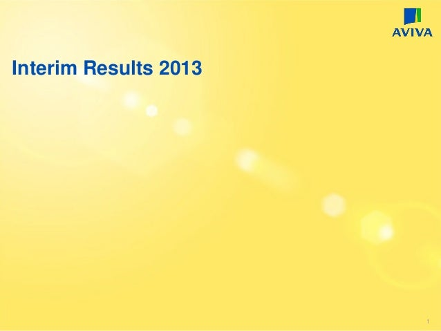 Interim Results 2013 1
