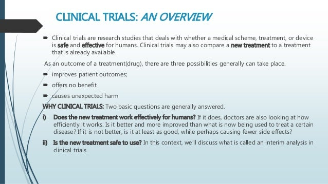 Interim Analysis In Clinical Trials 1