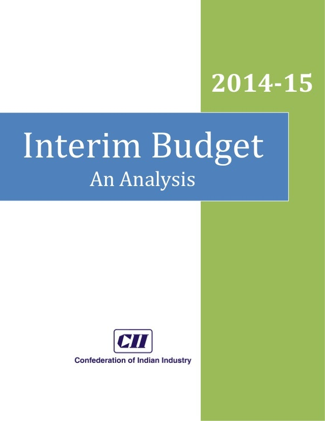 2014-15  Interim Budget An Analysis