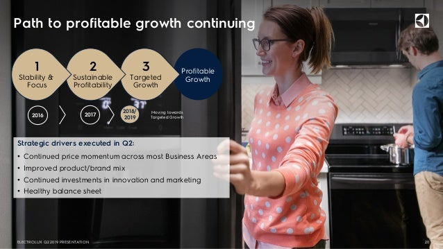 Path to profitable growth continuing 20 Strategic drivers executed in Q2: • Continued price momentum across most Business ...