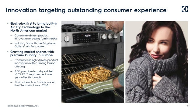 Innovation targeting outstanding consumer experience • Electrolux first to bring built-in Air Fry Technology to the North ...