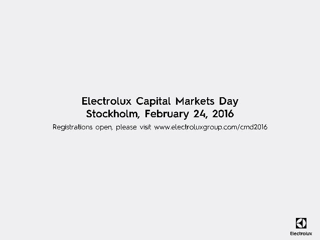 Electrolux Consolidated Results 2015 - Presentation