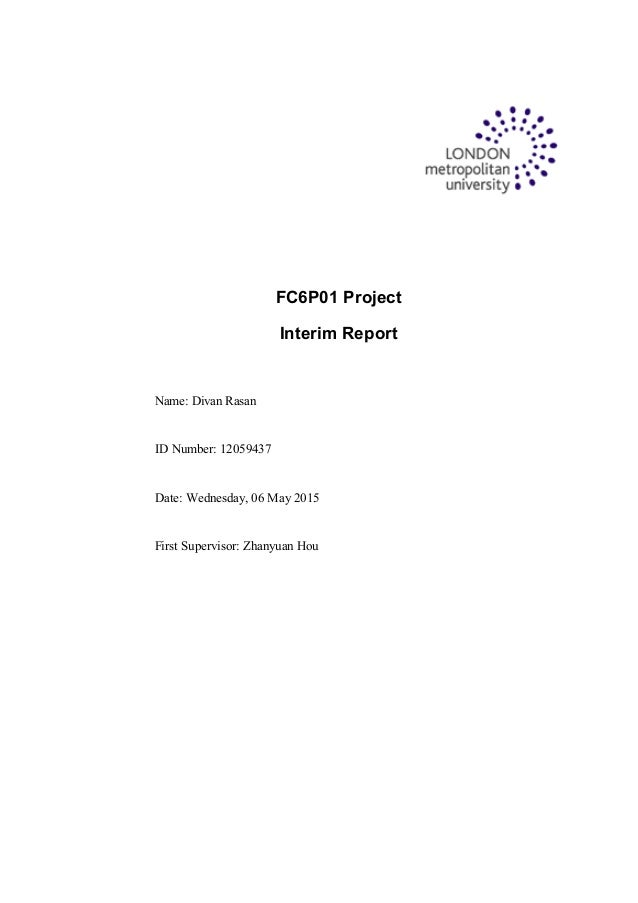 final project interim report Most recent publications social finance pilot projects: interim report assistive equipment and technology for students with disabilities: final report.