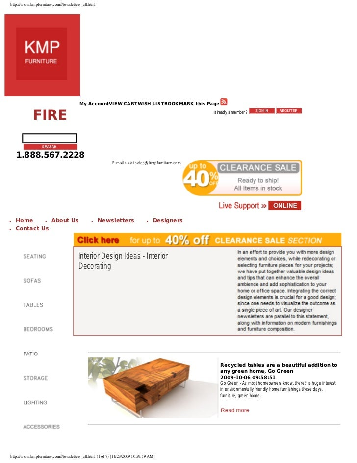 http://www.kmpfurniture.com/Newsletters_all.html                                            My AccountVIEW CARTWISH LISTBO...