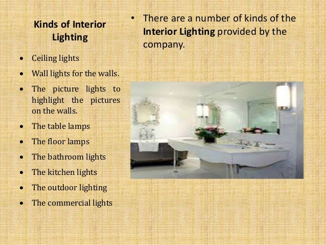 Know About Interior Lighting And Its Types