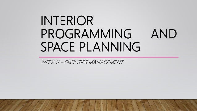 Space Planning interior programming and space planning