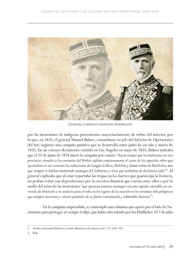 """32 Anuario nO 29, año 2015 academia de historia militar de los lonkos.También se dirigió a varias tribus amigas para que """"..."""