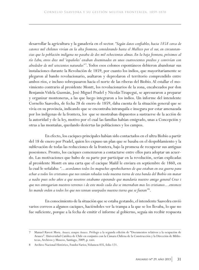 """34 Anuario nO 29, año 2015 academia de historia militar celebraba ese día. La hoja de servicios de Saavedra indica: """"El 18..."""