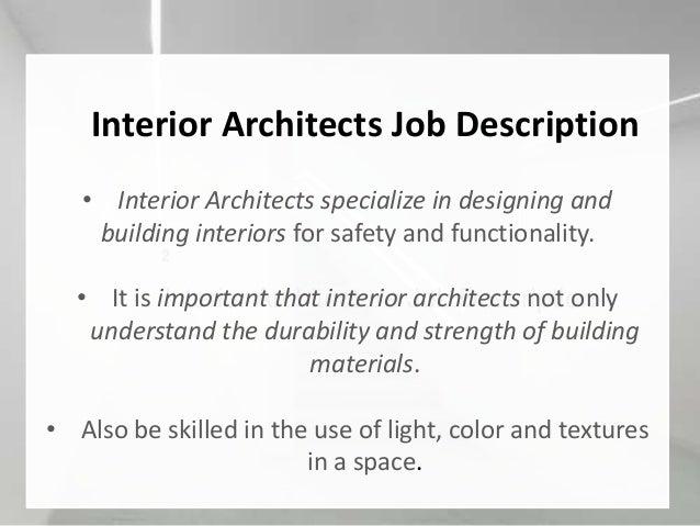 Interior Architecture Job Description ...
