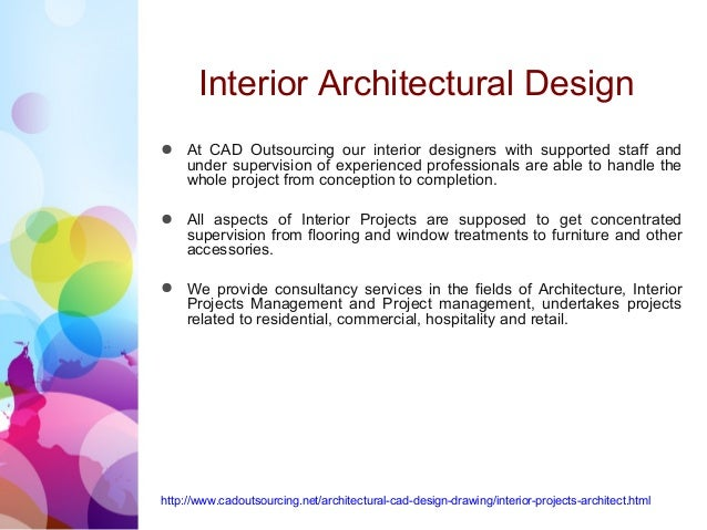 Interior Architectural Design Cad Outsourcing