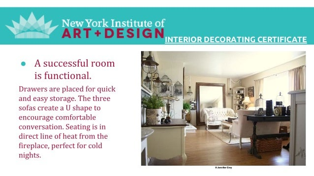 Interior Decorating Certificate From The New York Institute Of Photog