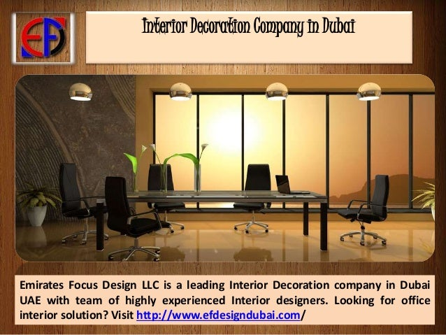 Interior decoration company in dubai for Interior decoration companies in dubai