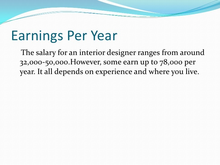 Br 5 Earnings Per Yearbr The Salary For An Interior Designer