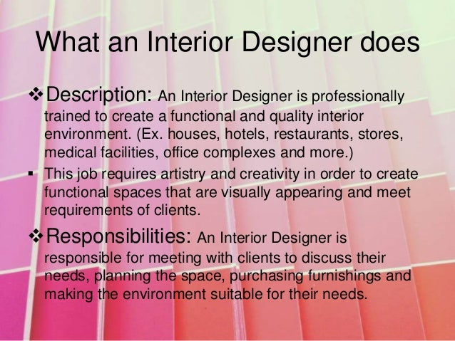 interior design On what is interior design