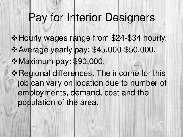 6 Pay For Interior Designers