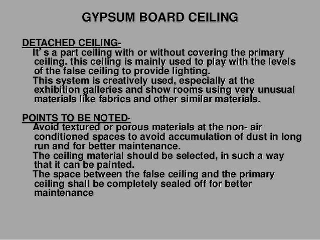Gypboard attached(direct to framing) Primary & secondary supports