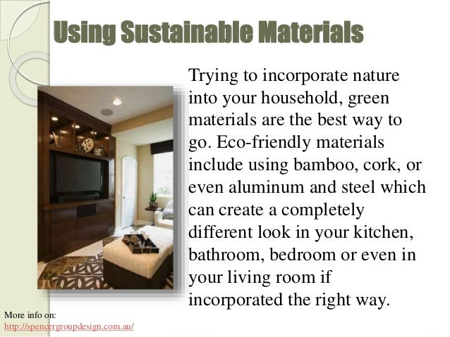 7 Using Sustainable Materials