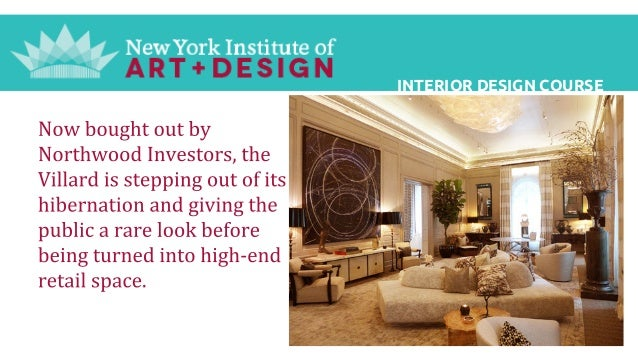 Interior Design Course New York Institute Of Art And