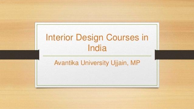 Interior Design Courses In India Avantika University Ujjain Mp