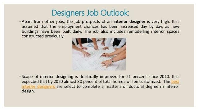 Job outlook for interior designers