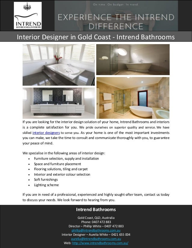 If You Are Looking For The Interior Design Solution Of Your Home, Intrend  Bathrooms And