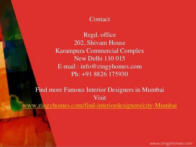 Famous interior designer in mumbai for Architecture firms for internship in mumbai